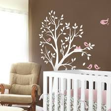 Small Picture Tree with Birds and Nest Decal