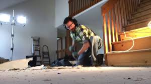 how to remove glued stapled underlayment from suloor