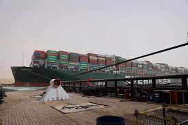 Ever Given, a massive cargo ship, is still stuck in the Suez Canal
