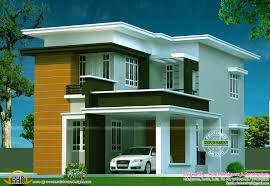 Flat Roof House Kerala Model Top Home Interior Designers Cool Flat Roof Home