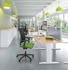 lime green office. Lime Green And White Office I