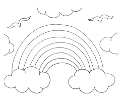 Rainbow Coloring Pictures Rainbow Coloring Pages For Preschool Free