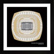 Mercedes Benz Stadium Seating Chart Mercedes Benz Superdome New Orleans Saints Stadium Seating Art Print Football Gift Snosf1616