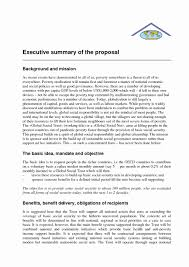 Format For An Executive Summary Executive Summary Sample For Proposal Unique Phd Research