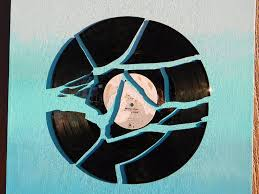 hang it up and you re done  on wall art using vinyl records with broken record ombre wall art