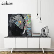 large modern canvas wall art elegant cubism hand painted elephant oil painting on artwork beautiful