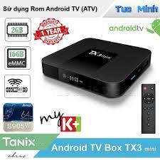 Android Tivi Box TX3 Mini 2021 RAM 2GB bộ nhớ trong 16GB Bluetooth Android  9 - Bảo hành 2 năm