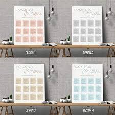 Wedding Seating Chart Wording Personalised Modern Design Wedding Seating Plan Planner