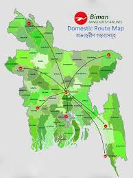 Bangladesh Biman Map