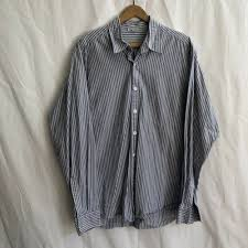 dels about steven alan usa shirt mens large cotton striped cal dress on up