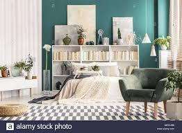Gemütliches Schlafzimmer Einrichtung Mit Weißen Skandinavischen