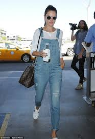 louis vuitton overalls. glamorous jet-setter: alessandra ambrosio proved she\u0027s mastered the art of off-duty louis vuitton overalls