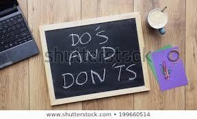 Office Chalkboard Dos Donts Written On Chalkboard Office Stock Photo Edit Now