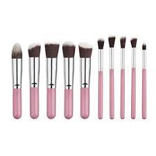 akruti 10 pcs silver golden makeup brushes set pincel maquiagem cosmetics maquillaje makeup tool powder
