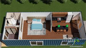 Single Shipping Container Home Beautiful Sch2 2 X 40ft Single Bedroom  Container Home Eco Home Designer