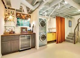 12 Finishing Touches for Your Unfinished Basement. Basement Laundry  RoomsBasement ...