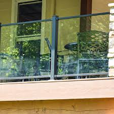 residential exterior glass railing system