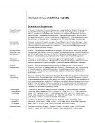 Trending Project Manager Resume Summary Sample Resume Examples