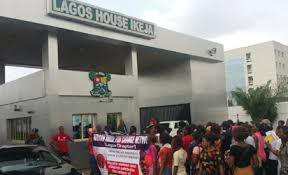 Image result for Parents of kidnapped Lagos pupils protest at Ambode's office