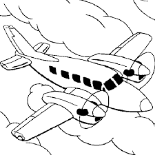 Small Picture Twin engine sky clouds Coloring Pages for Kids