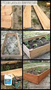 diy cedar raised garden bed with flood