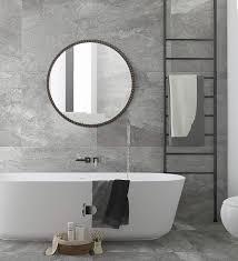 com hans alice large rectangular bathroom mirror wall mounted wooden frame vanity mirror 24 home kitchen
