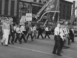 labor day from protest to picnics the gilder lehrman institute ford local 600 of the cio in the labor day parade in detroit mi 1942