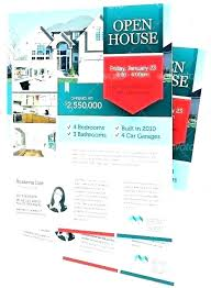 House For Rent Flyer Template Word Open House Flyer Template