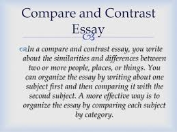 kind of essays compare and contrast essay 8