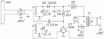 fm crystal radio receivers power radio circuit diagram