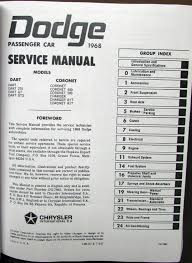 dodge shop service manual hemi coronet r t 440 500 deluxe charger 1968 dodge shop service manual hemi coronet r t 440 500 deluxe charger dart gt