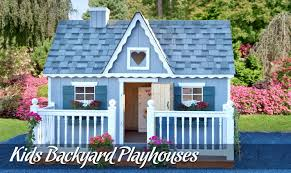 are your children looking for the ultimate outdoor getaway let their imaginations run wild with one of five diffe outdoor playhouse models