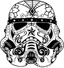 mcoloring comindex sugar skull animal stormtrooper colouring pages candy coloring human skulls flames free printable