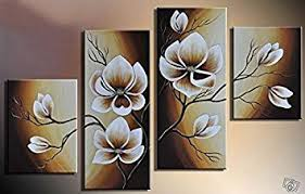Small Picture Amazoncom 100 Hand painted Wood Framed Oil Wall Art Warm Day