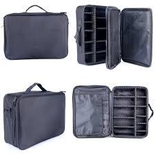 2pcs makeup cosmetic case beauty artist storage bag holder organizer black hot