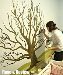 35 stunning and beautiful tree paintings for your inspiration wall mural stencils idea 9