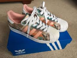 womens adidas superstars size 7 trend nearly new womens adidas superstar trainers pink size 7 hot