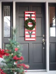 Candy Cane Theme Decorations 100 Artistic Christmas Door Decorations Ideas for a Warm Welcome 31