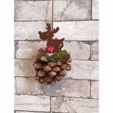 Tannenzapfen Weihnachtlich Dekoriert Zum Aufhängen
