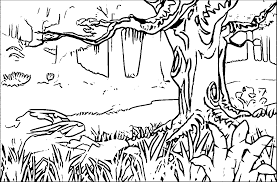 Coloring Pages Of Forest Home Printable L Deffb Colouring Page