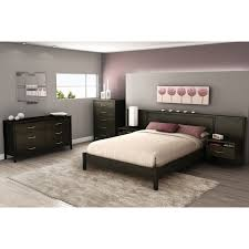 gravity contemporary platform bed  queen  ebony  beds  bed