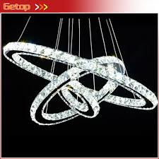 k9 crystal free style modern minimalist three rings led k9 crystal chandelier creative circle crystal lamp k9 crystal