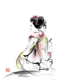 Paintings of geisha women