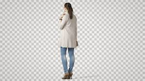 Girl Transparent Png Young Pretty Girl Stands Back Stock Footage Video 100 Royalty Free