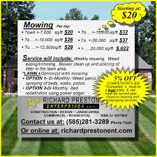 richardprestonenterprises mowing flyer