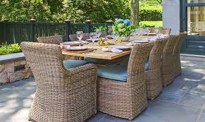 Kingsley Bates Teak Table And Sag Harbor Grey Chairs