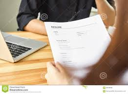 Submit Resume Young Woman Submit Resume To Employer To Review Job Application The 12