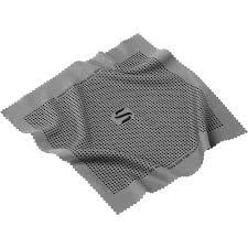 sensei microfiber lens cleaning cloth gray