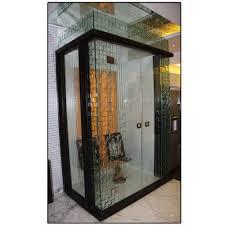 white n black pooja room glass door rs