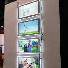 5unit column a3 single sided magnetic face led magnetic light box picture